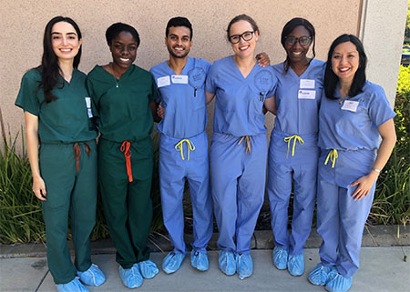 (l to r): Tania Benjamin, MD; Jacqueline Harris, MD; Neil Patel, MD; Karolina Plonowska-Hirschfeld, MD; Sifon Ndon, MD; VyVy Young, MD