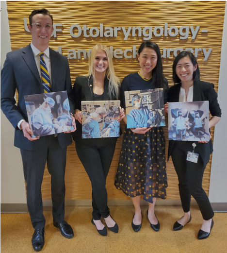 From left to right: Adrian House, MD; Madeleine Strohl, MD; Nancy Wang, MD; Mary Jue Xu, MD